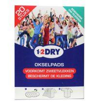1-2DRY okselpads Large Wit 20 stuks Gezondheidswebwinkel