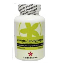 Liever Gezond Cloves kruidnagel 100 vegicapsules gezondheidswebwinkel