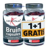 Lucovitaal Bruin capsules 1+1 Gratis Gezondheidswebwinkel.jpg