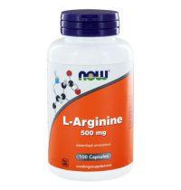 NOW L-Arginine 500mg 100 capsules gezondheidswebwinkel