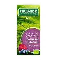 Piramide Bosbes groene thee 20 theebuiltjes Gezondheidswebwinkel