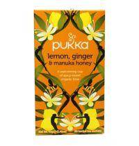 Pukka Lemon ginger manuka honey gezondheidswebwinkel