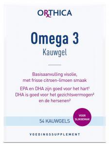 Orthica Omega 3 kauwgel 54 kauwgels gezondheidswebwinkel