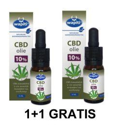 Wapiti CBD Olie 10 ml 1+1 Gratis Gezondheidswebwinkel