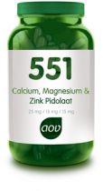 AOV 551 Calcium, Magnesium en Zink Pidolaat 90 capsules