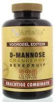 Artelle D-Mannose Cranberry Beredruif 220 tabletten gezondheidswebwinkel