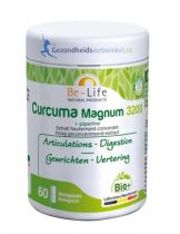 Be Life Curcuma magnum 3200 + piperine bio 60 softgels gezondheidswebwinkel.nl