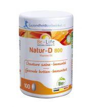 Be Life Vitamine D Natur 800 100 capsules gezondheidswebwinkel.nl