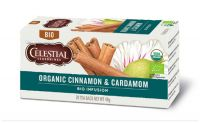 Celestial Seasonings Organic cinnamon en cardamom 20 Theezakjes gezondheidswebwinkel