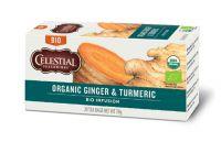 Celestial Seasonings Organic ginger en turmeric 20 Theezakjes gezondheidswebwinkel