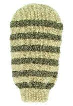Forsters Massage handschoen gestreept linnen katoen Gezondheidswebwinkel