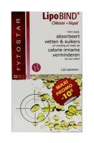 Fytostar Lipobind chitosan nopal maxi 120 tabletten gezondheidswebwinkel