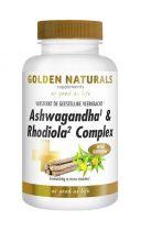 Golden Naturals Ashwaganda en rhodiola complex 60 vegi capsules gezondheidswebwinkel