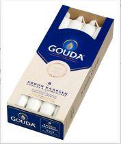 Gouda Kroonkaars ivoor 200 hoogte/breed 24 mm 10 stuk gezondheidswebwinkel