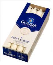 Gouda Kroonkaars wit 240 hoogte/breed 24 mm 8 stuk gezondheidswebwinkel