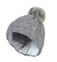 Heat Holders Dames Muts met Pom light grey