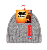 Heat Holders Dames Muts one size light grey