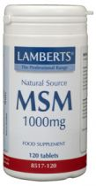 Lamberts Msm 1000 mg. 120 tabletten