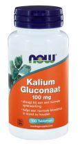 NOW Kalium Gluconaat 100 mg 100 tabletten gezondheidswebwinkel