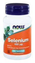NOW Selenium gistvrij 100 mcg 100 tabletten gezondheidswebwinkel