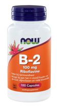 NOW Vitamine B2 100 mg 100 capsules gezondheidswebwinkel