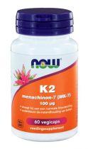 NOW Vitamine K2 Menachinon 7 100 µg 60 capsules gezondheidswebwinkel