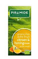 Piramide Groene thee citroen en honing 20 theebuiltjes gezondheidswebwinkel.nl
