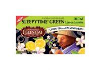 Sleepytime Green Tea Cafeïnevrij Celestial Seasonings Gezondheidswebwinkel