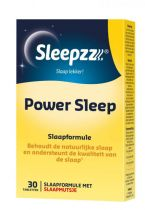 Sleepzz Power Sleep melatonine 30 tabletten gezondheidswebwinkel