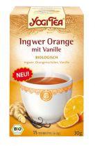 Nieuw Yogi Tea Ginger Orange Vanilla